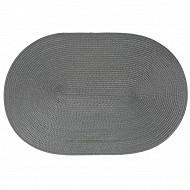 Set de table tressé ovale - coloris gris