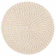 Set de table tressé irisé blanc