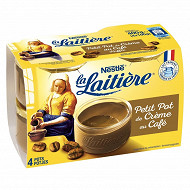 La Laitière petit pot de crème café 4x100g