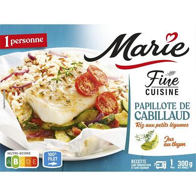 Marie Marie papillote de cabillaud riz aux petits légumes 300g