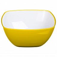 Saladier square jaune 25 cm