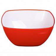 Saladier square rouge 14 cm