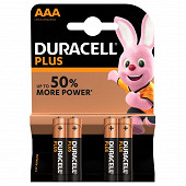 DURACELL piles PLUS POWER AAA x4