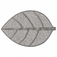 Set de table feuille 50 x 33 cm gris