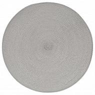 Set de table tressé rond gris claire