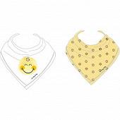 Lot de 2 bavoirs bandanas smiley soft doodle boy Smiley baby