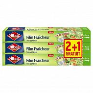 Albal film fraîcheur 30m x 3 lot 2+1 offert