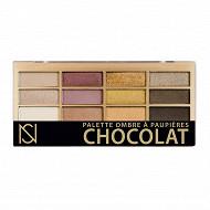 Palette ombre à paupières 12 couleurs NS n°02 chocolat