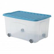 Roller ventilo boite de rangement avec roulette transparente/belu 50l