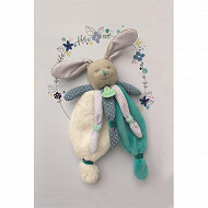 Doudou lapin bleu poupi Baby Nat