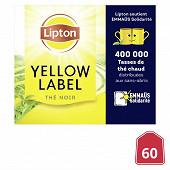 Lipton yellow label the noir opération emmaus x60 120g