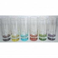 Lot de 6 gobelets haut colori'eau 31.5 cl