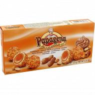 Boules de gaufrette fourrées de crème aux éclats de cacahuètes 125 gr