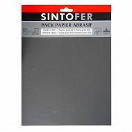 Sintofer pack papier abrasif