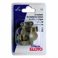 Cosses de batterie laiton double serrage + et -