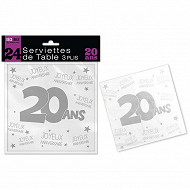 Serviettes de table 20 ans 3 plis x24
