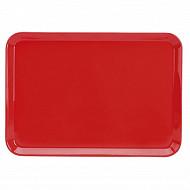 Plateau melaminé 34x24 uni rouge