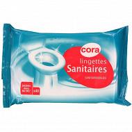 Cora lingettes nettoyantes WC recharge x40