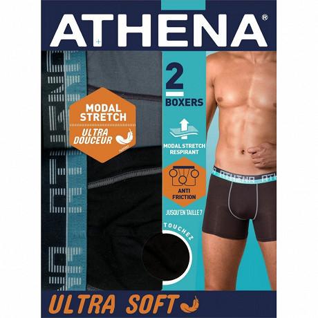 Lot de 2 boxers ligne Ultra Soft Athena 2060 NOIR/GRIS T4