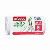 Alfapac coulissac salle de bain végétal origin 25x5l