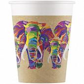 8 gobelet carton 20 cl fsc compostable elephant