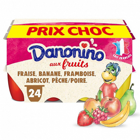 Danonino aux fruits panaché 24x50g prix choc