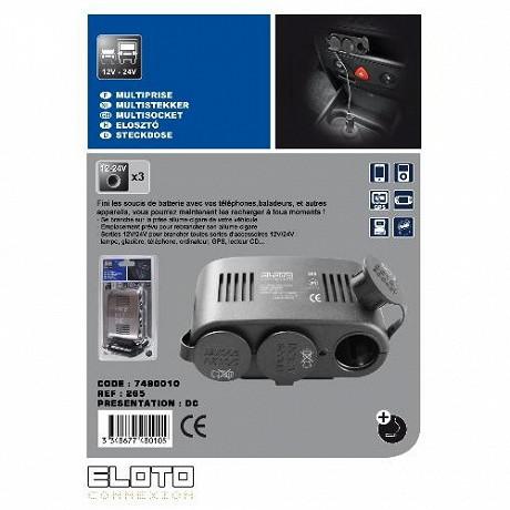 Eloto connexion multip. All-cig. 3 sort 12v/24v avec 1 emplacement