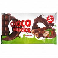 Gaufrettes fourrées goût noisette enrobées de choco (5x40gr)