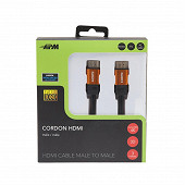 Apm Câble hdmi m/m 1.4 noir plug jaune or 3m 590467
