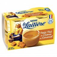 La Laitière petit pot de crème caramel 4x100g