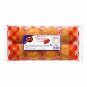 Madeleines fourres fraise x 8