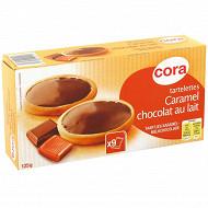 Cora tartelettes caramel chocolat au lait 125g