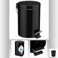 Poubelle métal 3 litres coloris noir