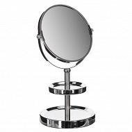 Miroir double socles chromé