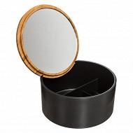 Boîte couvercle miroir naturéo noir