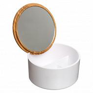 Boîte couvercle miroir naturéo blanc