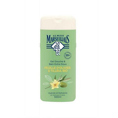 Le Petit Marseillais Le petit marseillais gel douche & bain extra doux feuille olive & tilleul bio 650ml
