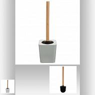 Pot et brosse wc naturéo blanc