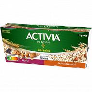 Activia bifidus céréales quinoa muesli et noisette 8x120g