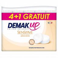Demak'up coton à démaquiller sensitive 320 disques 4+1 offert