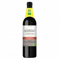 Nature bio cabernet Syrah igp vin de pays d'OC rouge 75cl Vol. 14.5%