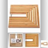 Dessous de plat extensible bambou