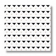 Serviettes x20 manda light black 25x25cm 3 plis