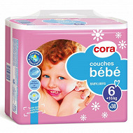 Cora baby couches bébé taille 6 extra large (+16kg) x38