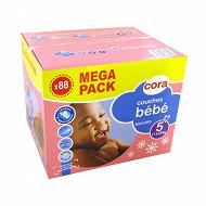 Cora baby couches bébé taille 5 (11 à 25kg) méga pack x88