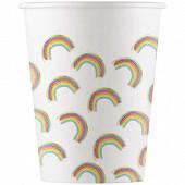 8 gobelets carton rainbow  20cl