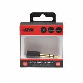 Apm Adaptateur jack 6.35mm/jack 3.5mm stéréo mâle/femelle 422027