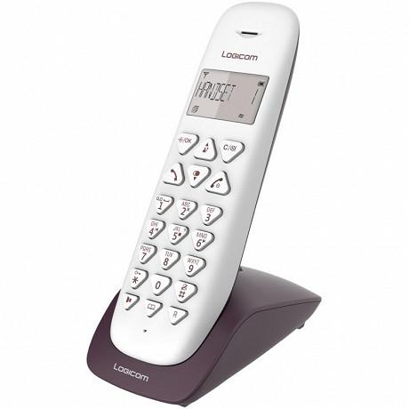 Logicom Téléphone solo sans fil répondeurVEGA 155T SOLO AUBERGINE