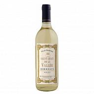 Bordeaux blanc moelleux st jean de la vallée 75 cl 11%