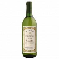 Bordeaux blanc sec st jean de la vallée 75 cl 12%